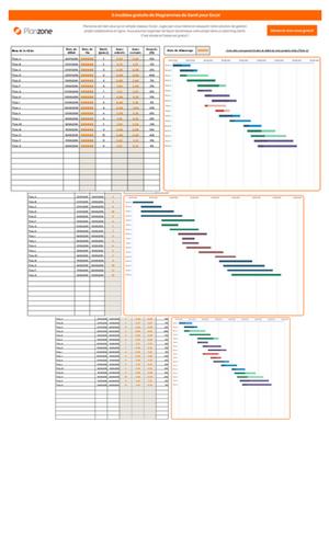 3 modles gratuits de diagramme de gantt pour excel lp excel modeles diagramme gantt visuelg ccuart Images